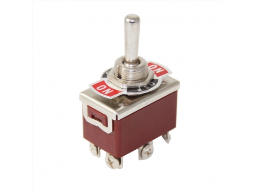 Toggle Switch 6P ON-OFF-ON Ø12mm